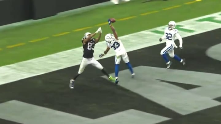 Kenny Moore snags and incredible interception for the Indianapolis Colts