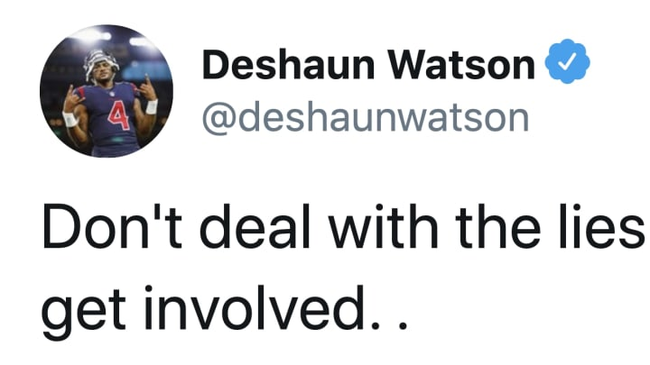 Deshaun Watson seems a bit fed up with the Texans