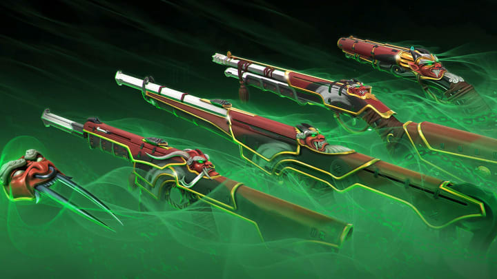 The oni weapon collection includes five skins.