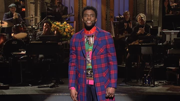 "Chadwick Boseman hosting ""Saturday Night Live"""