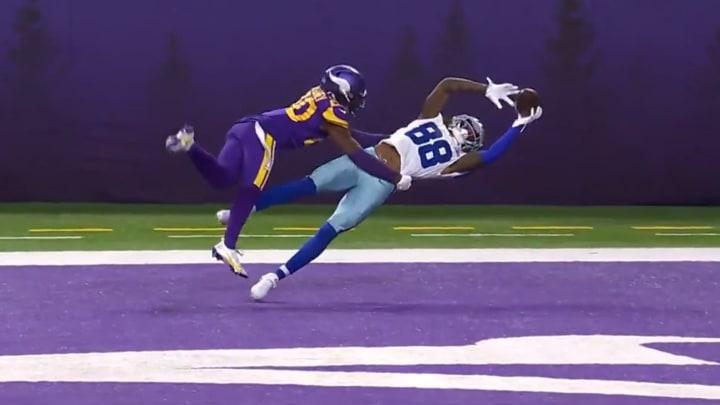 CeeDee Lamb snags a touchdown against the Minnesota Vikings.