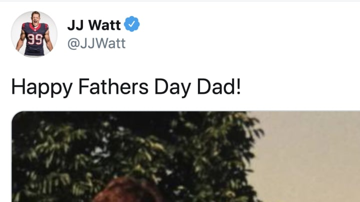 JJ Watt's Father's Day pic featured all the Watt men in one photo
