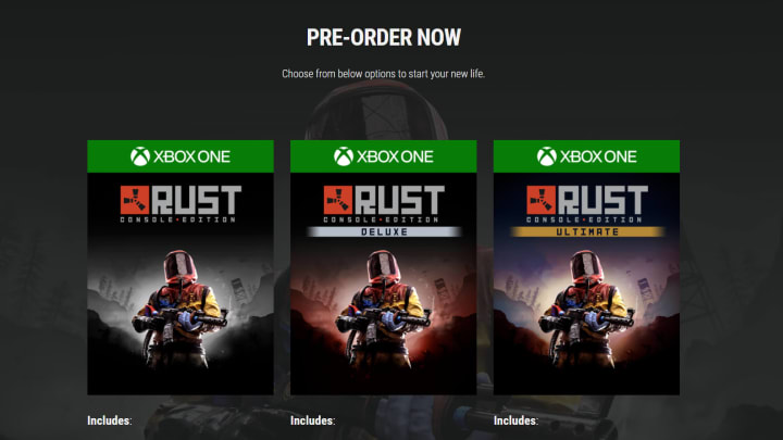 Double Eleven and Facepunch have a few different pre-order special editions for players to choose from.