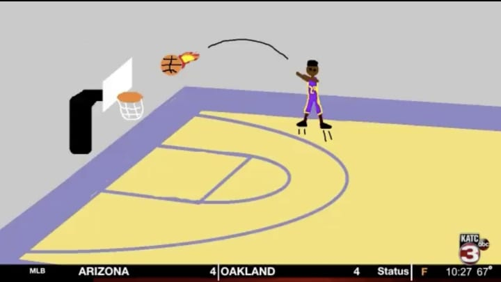 Andrew Clay's LSU highlights are better in MS Paint.