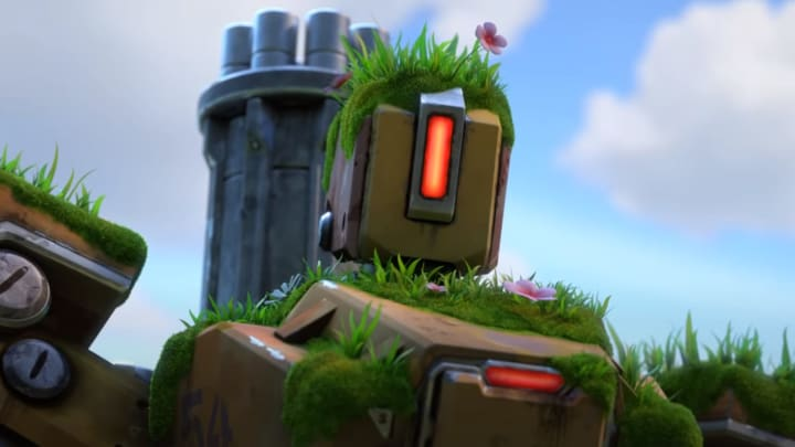 Bastion can not be shot at if he is spawn, but he can shoot at players in a certain point.