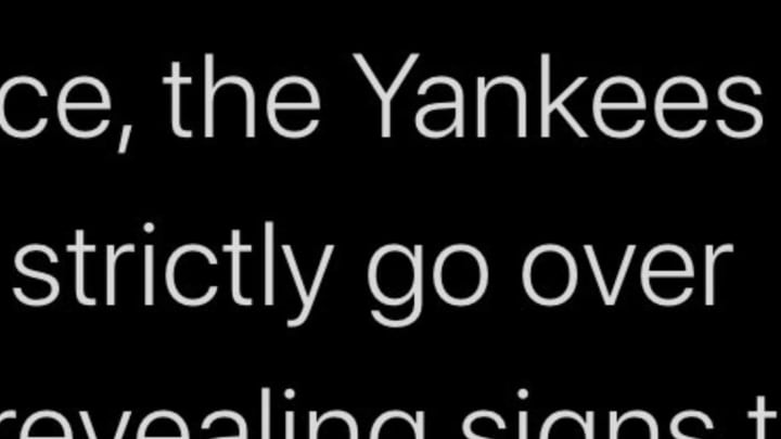 The Sporting News' Joe Rivera claims to have heard confidential details of the New York Yankees' alleged 2017 sign-stealing