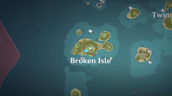Genshin Impact archipelago Broken Isle map