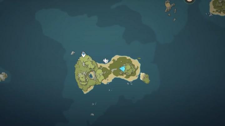 Genshin Impact archipelago Minacious Isle map