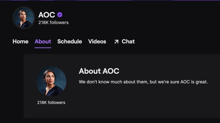 Alexandria Ocasio-Cortez will be joined by a high-profile cast of streamers and personalities for her first Among Us Twitch stream Oct. 20.
