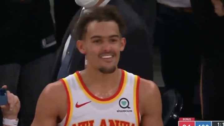 Trae Young smiling.