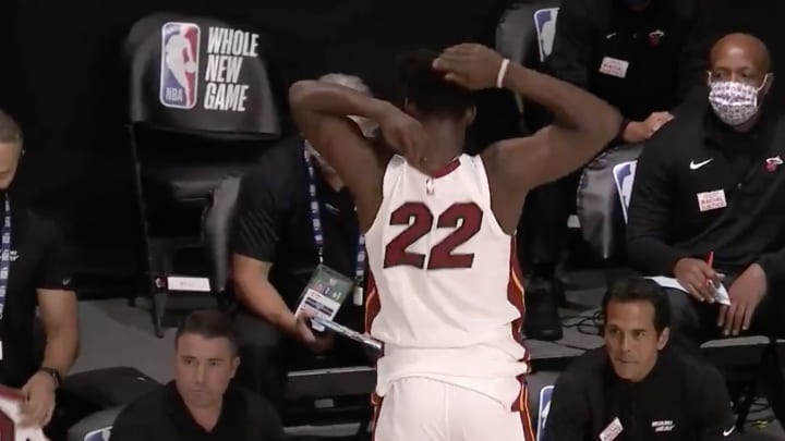 Jimmy Butler getting changed