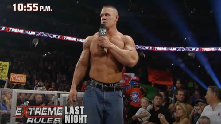 John Cena breaking the bin Laden news on a WWE PPV in 2011.