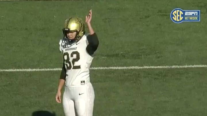 Vanderbilt's Sarah Fuller Becomes First Woman to Play in NCAAF Power 5 Game