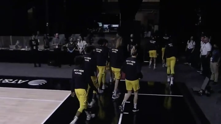 Seattle Storm walk off the court