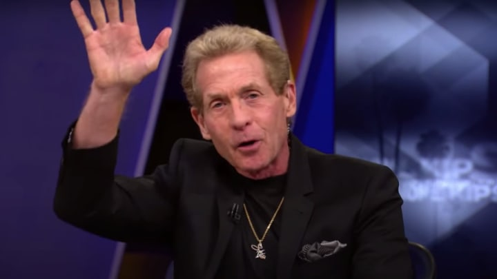 Skip Bayless waving to the haters.