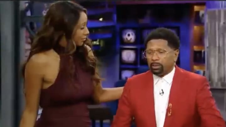 Maria Taylor and Jalen Rose on NBA Countdown.