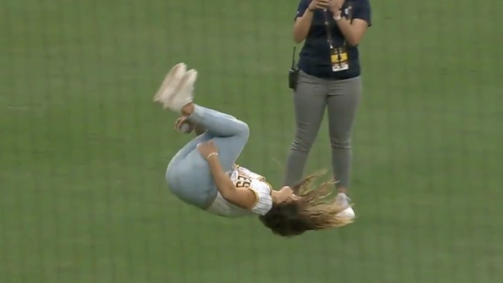Demi Bagby Threw the Greatest First Pitch of All Time Before Padres-Rockies