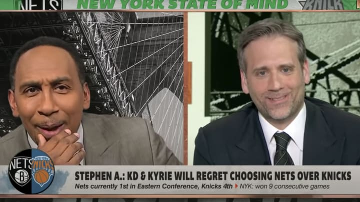 Stephen A. Smith's mischievous face
