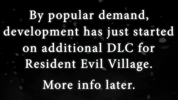 CAPCOM revealed they are currently working on a Resident Evil Village DLC during their E3 2021 showcase.