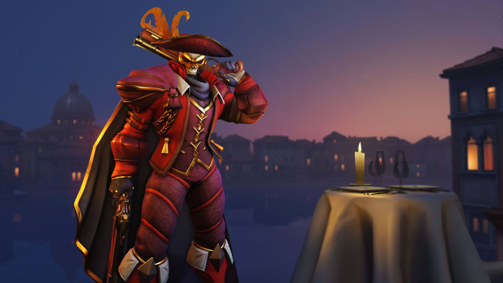 New Masquerade Reaper skin from the 2020 Overwatch Anniversary event.