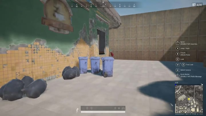 PUBG Player uses angles and skill, maybe some luck, to get an unusual kill