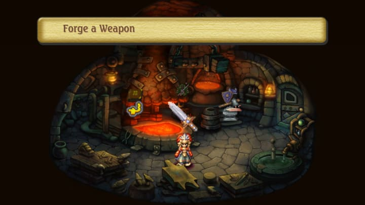 Legend of Mana continues a beloved in-game chronicle tradition.