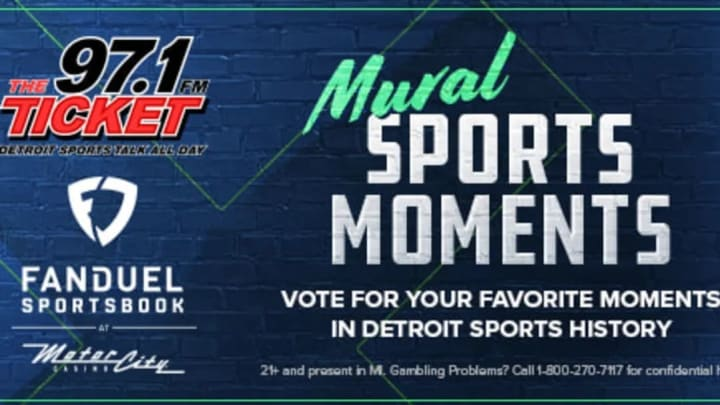 TheFanDuel MotorCity Casino Mural Sports Moment competition, honoring Detroit's greatest sports moments, is down to the final four.