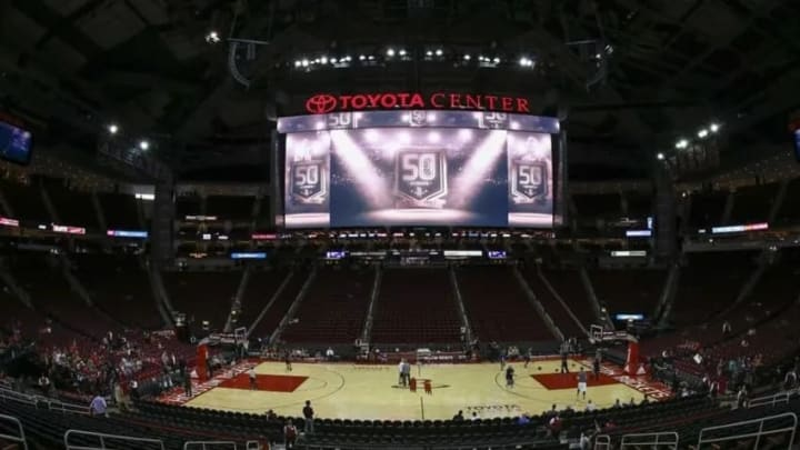 Oct 30, 2016; Houston, TX, USA; General view inside Toyota Center before a game between the Houston Rockets and the Dallas Mavericks.