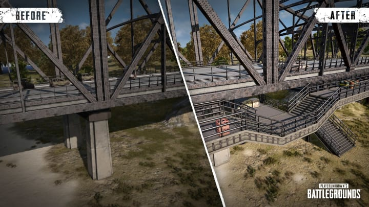 Before and after bridge