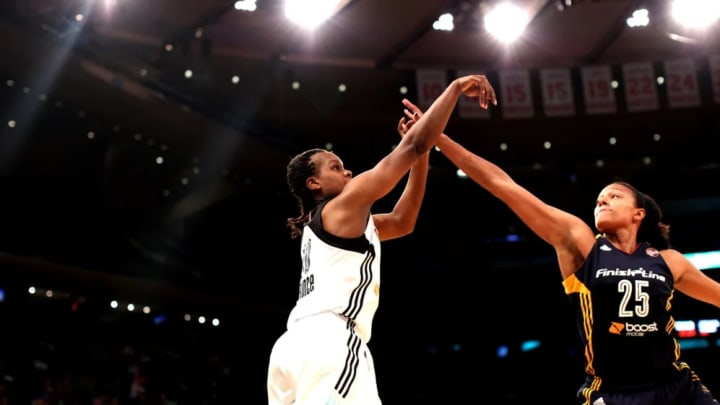 Epiphanny Prince takes a shot during during Game 1 of the Eastern Conference Finals.