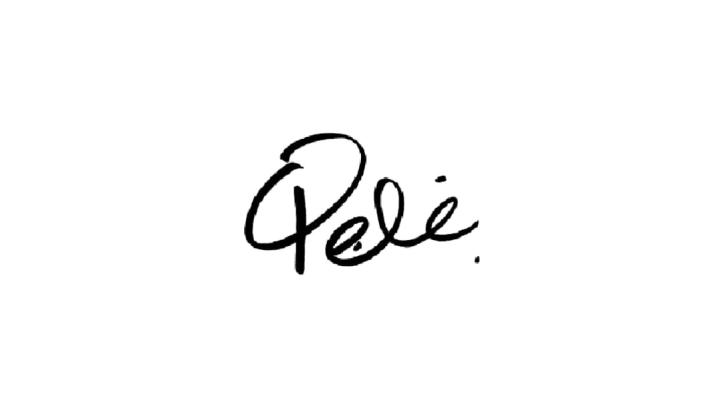 Pelé autógrafo