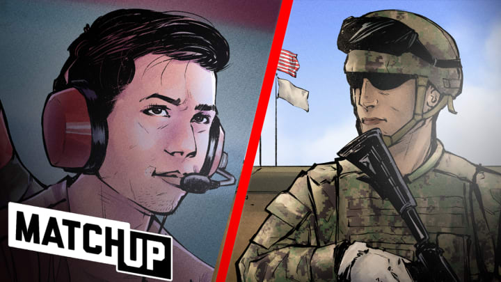 "In this episode of Matchup, Dillon ""Attach"" Price compares and contrasts his role in Call of Duty to that of a Special Warfare Combatant-Craft Crewman. Hear how the two both prepare and execute their roles when it's game time."