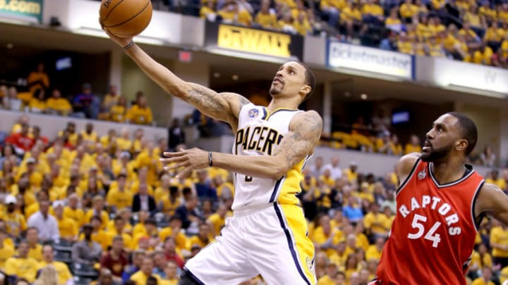 INDIANAPOLIS, IN - APRIL 29: George Hill