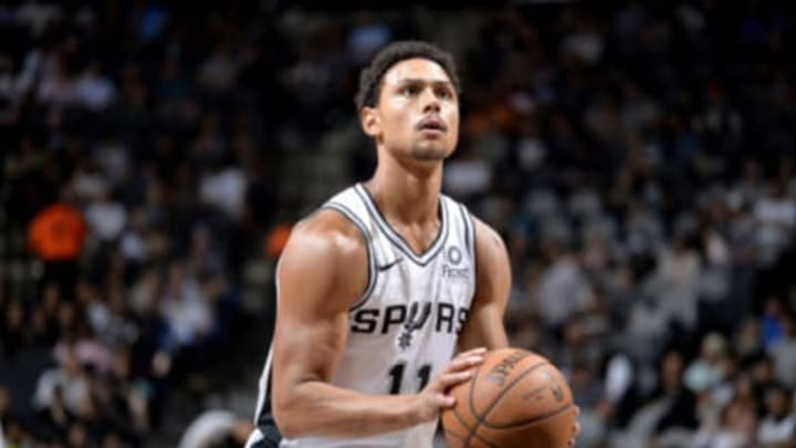 Bryn Forbes of the San Antonio Spurs shoots the ball (Photos by Mark Sobhani/NBAE via Getty Images)