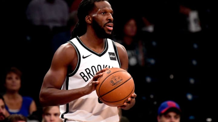 NEW YORK, NY - OCTOBER 03: DeMarre Carroll #9 of the Brooklyn Nets in action against the New York Knicks during a preseason game at Barclays Center on October 3, 2018 in New York City. NOTE TO USER: User expressly acknowledges and agrees that, by downloading and or using this photograph, User is consenting to the terms and conditions of the Getty Images License Agreement. (Photo by Steven Ryan/Getty Images)