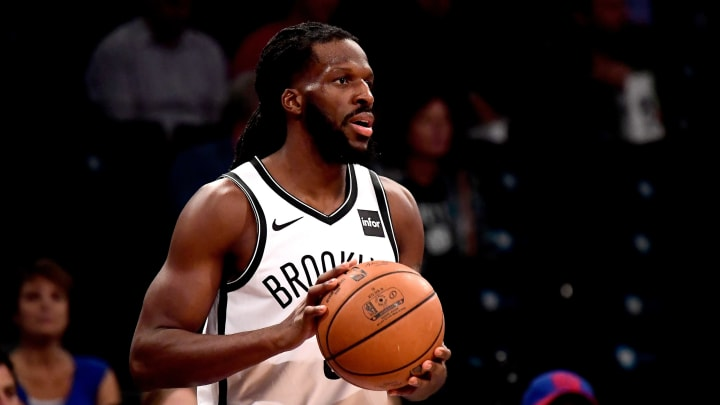 NEW YORK, NY – OCTOBER 03: DeMarre Carroll #9 of the San Antonio Spurs in action against the New York Knicks during a preseason game at Barclays Center on October 3, 2018 in New York City. (Photo by Steven Ryan/Getty Images)