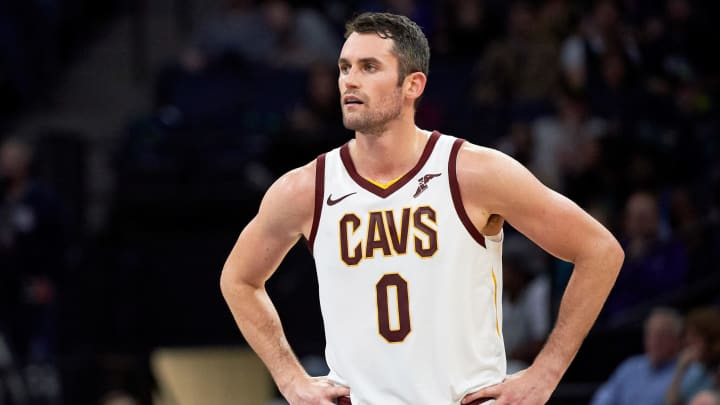 MINNEAPOLIS, MN – OCTOBER 19: Kevin Love #0 of the Cleveland Cavaliers looks on during the game against the Minnesota Timberwolves on October 19, 2018 at the Target Center in Minneapolis, Minnesota. The Timberwolves defeated the Cavaliers 131-123. (Photo by Hannah Foslien/Getty Images)