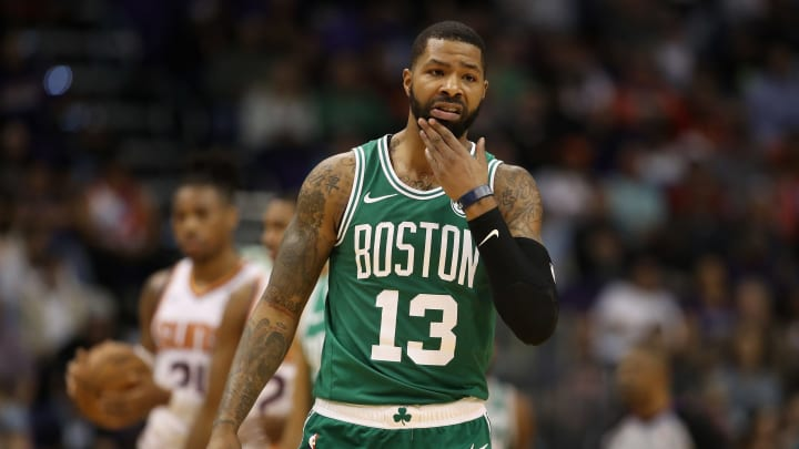PHOENIX, AZ – NOVEMBER 08: Marcus Morris #13 of the Boston Celtics during the NBA game against the Phoenix Suns (Photo by Christian Petersen/Getty Images)