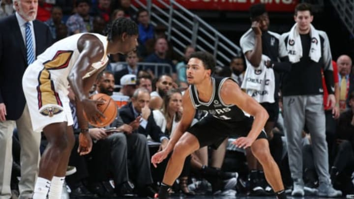 NEW ORLEANS, LA – NOVEMBER 19: Bryn Forbes #11 of the San Antonio Spurs plays defense against the New Orleans Pelicans (Photo by Layne Murdoch Jr./NBAE via Getty Images)