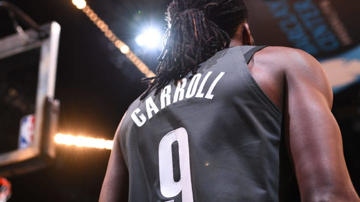 BROOKLYN, NY – DECEMBER 16: DeMarre Carroll #9 of the Brooklyn Nets seen on court during the game against the Atlanta Hawks (Photo by Matteo Marchi/NBAE via Getty Images)