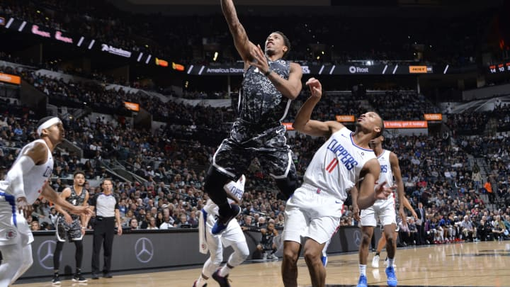 SAN ANTONIO, TX – JANUARY 20: DeMar DeRozan #10 of the San Antonio Spurs goes to the basket against the LA Clippers on January 20, 2019 at the AT&T Center in San Antonio, Texas. (Photos by Mark Sobhani/NBAE via Getty Images)
