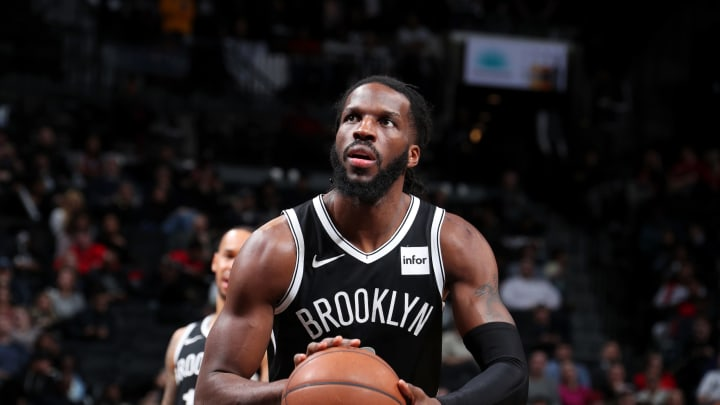 BROOKLYN, NY – JANUARY 29: DeMarre Carroll #9 of the San Antonio Spurs shoots a free-throw against the Chicago Bulls on January 29, 2019 at Barclays Center in Brooklyn, New York. (Photo by Nathaniel S. Butler/NBAE via Getty Images)