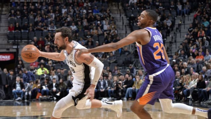 Marco Belinelli of the San Antonio Spurs. (Photos by Mark Sobhani/NBAE via Getty Images)
