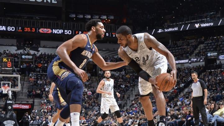 LaMarcus Aldridge of the San Antonio Spurs (Photos by Mark Sobhani/NBAE via Getty Images)