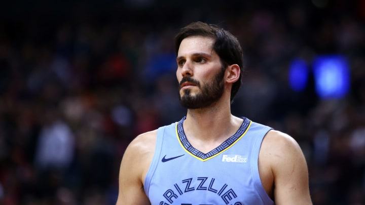 TORONTO, ON – JANUARY 19: Omri Casspi #18 of the Memphis Grizzlies looks on during the first half of an NBA game against the Toronto Raptors at Scotiabank Arena of January 19, 2019 in Toronto, Canada. (Photo by Vaughn Ridley/Getty Images)