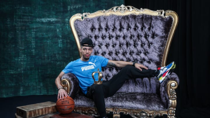 CHARLOTTE, NC - FEBRUARY 15: Danny Green of the Toronto Raptors poses for a portrait during the 2019 NBA All-Star circuit on February 15, 2019 at the Sheraton Hotel in Charlotte, North Carolina. NOTE TO USER: User expressly acknowledges and agrees that, by downloading and or using this photograph, User is consenting to the terms and conditions of the Getty Images License Agreement. Mandatory Copyright Notice: Copyright 2019 NBAE (Photo by Michael J. LeBrecht II/NBAE via Getty Images)