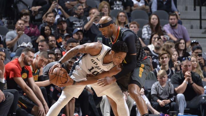 DeMar DeRozan of the San Antonio Spurs. (Photos by Mark Sobhani/NBAE via Getty Images)