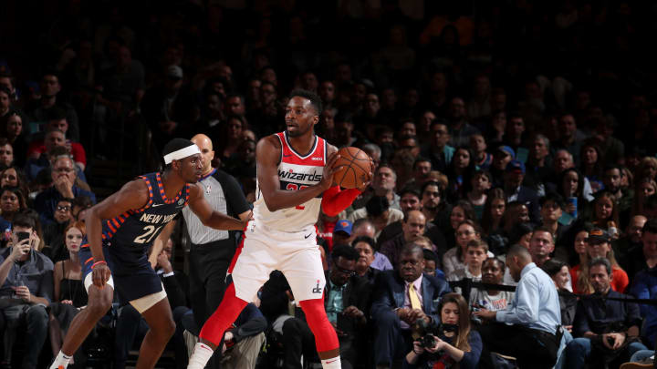 NEW YORK, NY – APRIL 7: Jeff Green #32 of the Washington Wizards handles the ball against the New York Knicks on April 7, 2019 at Madison Square Garden in New York City, New York. (Photo by Nathaniel S. Butler/NBAE via Getty Images)