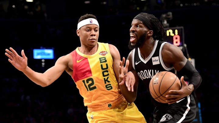NEW YORK, NEW YORK – APRIL 01: DeMarre Carroll #9 of the Brooklyn Nets is defended by Tim Frazier #12 of the Milwaukee Bucks at Barclays Center (Photo by Steven Ryan/Getty Images)