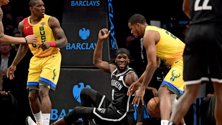 NEW YORK, NEW YORK – APRIL 01: DeMarre Carroll #9 of the Brooklyn Nets in action against the Milwaukee Bucks at Barclays Center (Photo by Steven Ryan/Getty Images)